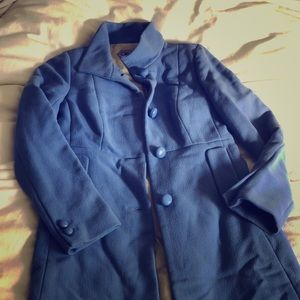 J.Crew Lady Day Coat w Thinsulate baby blue